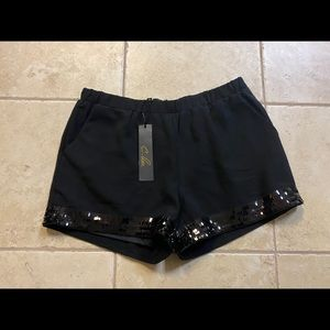 NWT women dress shorts with sequin trim